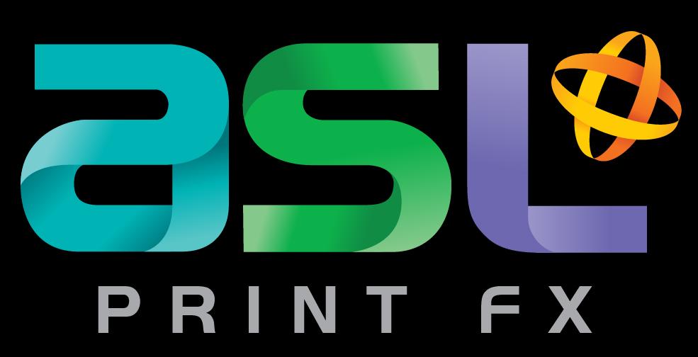 ASL Print FX Logo - RGB Colour Inverse